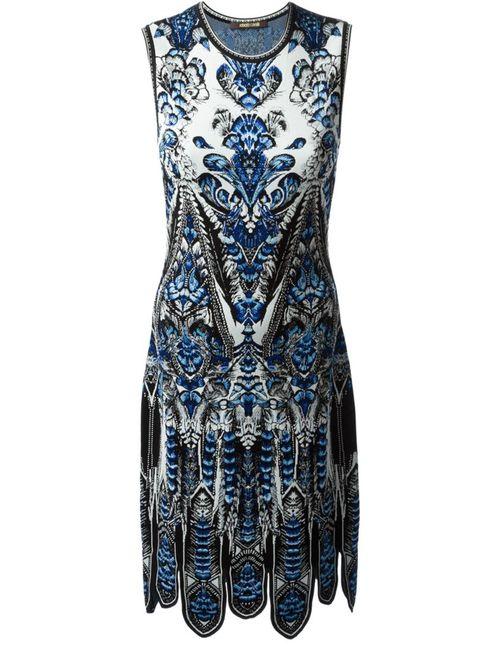 Roberto Cavalli | Женское Синий Scalloped Hem Printed Dress From