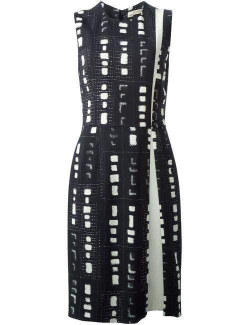 Etro | Женское Чёрное Платье-Футляр С Принтом