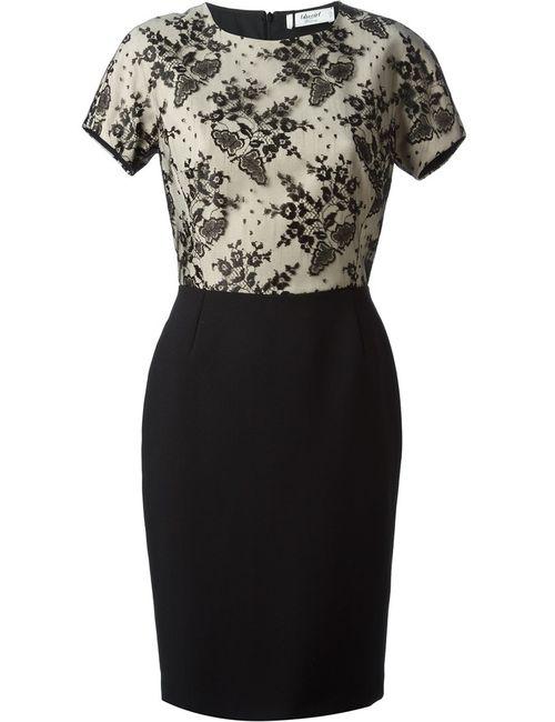 Blugirl   Женское Чёрное Платье С Кружевным Верхним Ярусом