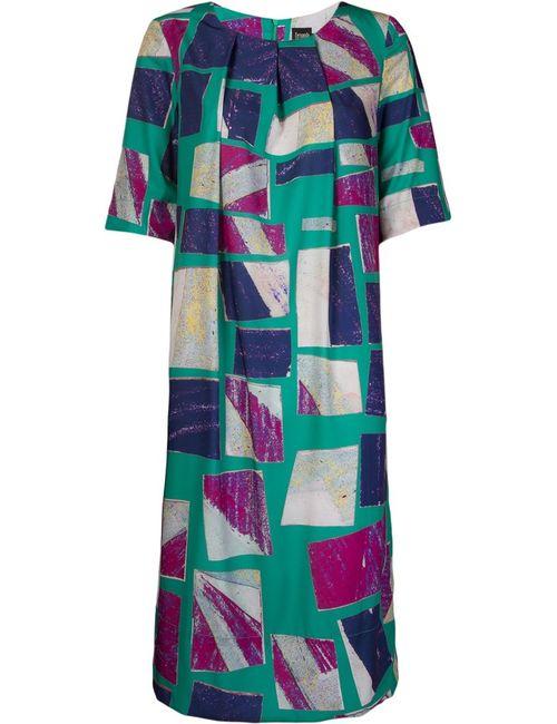 FERNANDA YAMAMOTO | Женское Многоцветное Платье Шифт С Абстрактным Принтом