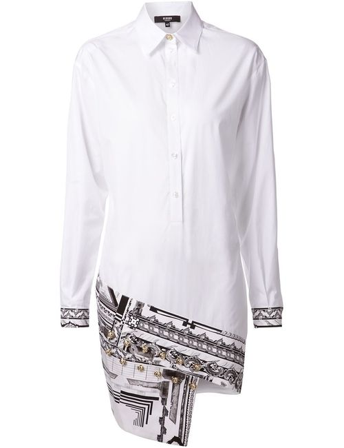 ANTHONY VACCARELLO X VERSUS VERSACE | Женское Cotton Asymmetric Shirt Dress From Versus Featuring