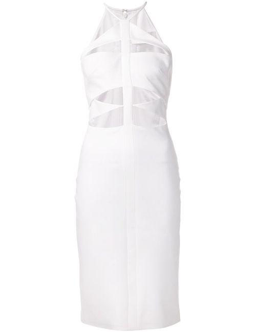Cushnie Et Ochs   Женское Белый Cut Out Front Dress From