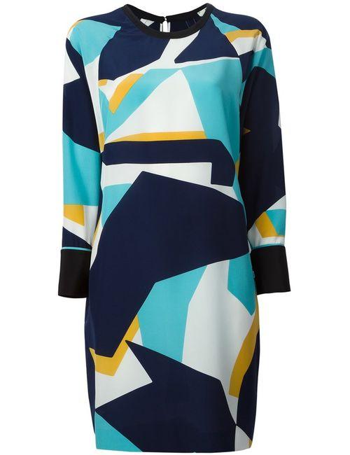 Fendi | Женское Синее Платье С Геометрическим Принтом
