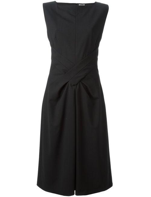 Kenzo | Женское Чёрное Платье С Перекрутом Спереди