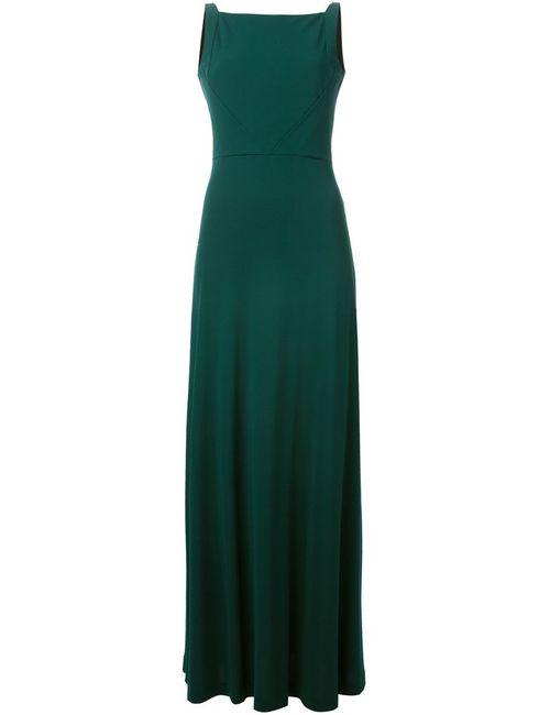 Etro | Женское Зелёное Платье С Глубоким Вырезом На Спине