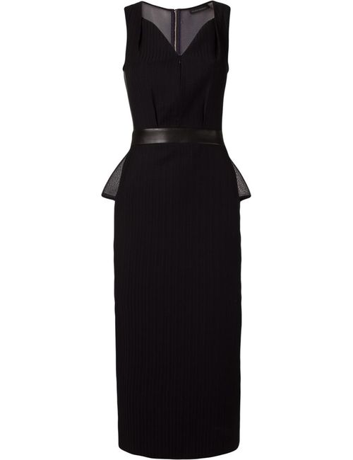 GIULIANA ROMANNO | Женское Чёрный Dark Midi Sleeveless Dress From Featuring A