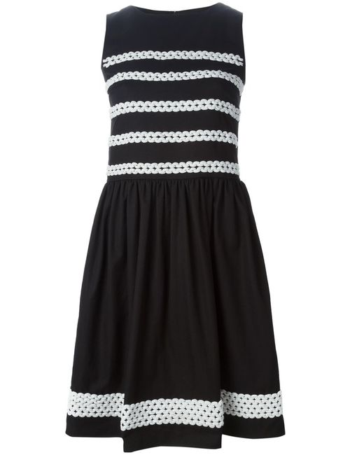 Red Valentino   Женское And Cotton Braided Detail Dress From