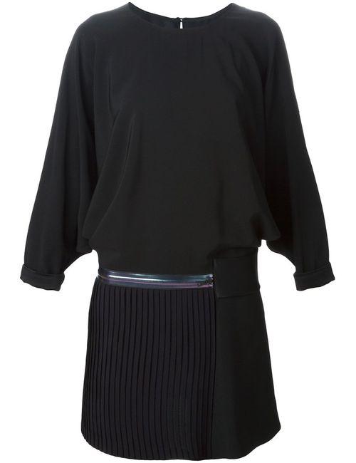 Victoria, Victoria Beckham | Женское Чёрное Платье С Плиссированной Юбкой На Молнии