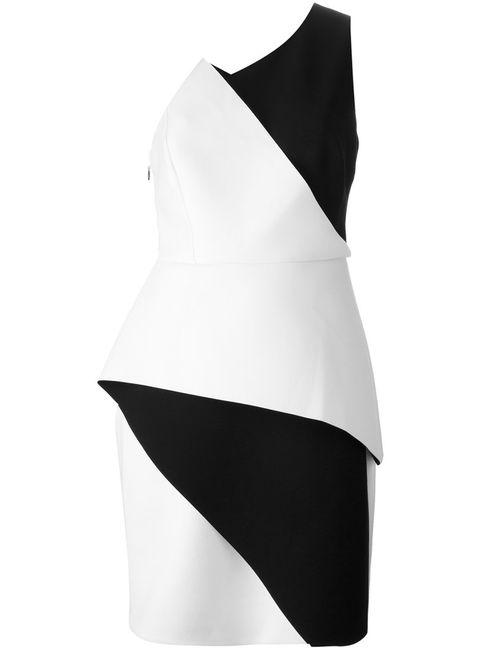 Halston Heritage   Женское Чёрное Платье Колор-Блок