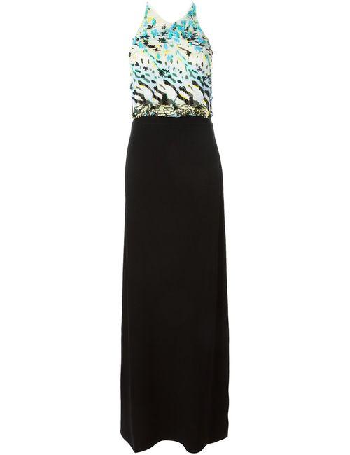 Roberto Cavalli | Женское Чёрное Декорированное Вечернее Платье