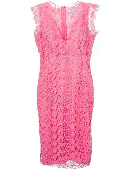 Ermanno Scervino | Женское Розовое Облегающее Кружевное Платье