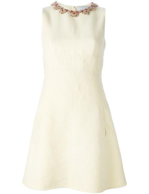 Valentino | Женское Nude & Neutrals Платье С Декорированным Воротником