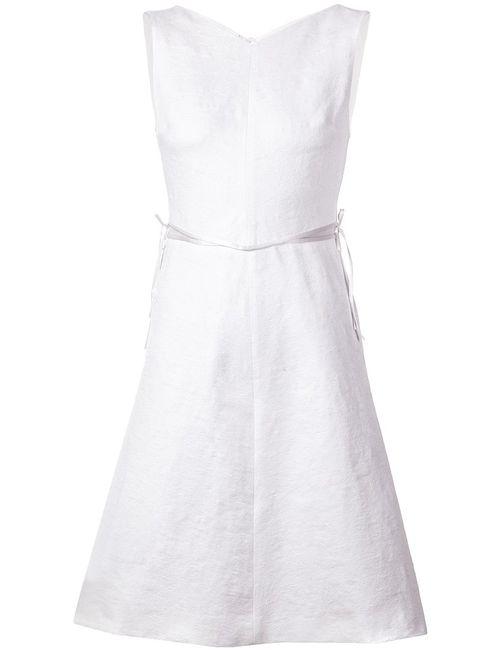 Schumacher | Женское Белый Cotton Blend Bow Detail Flared Dress From