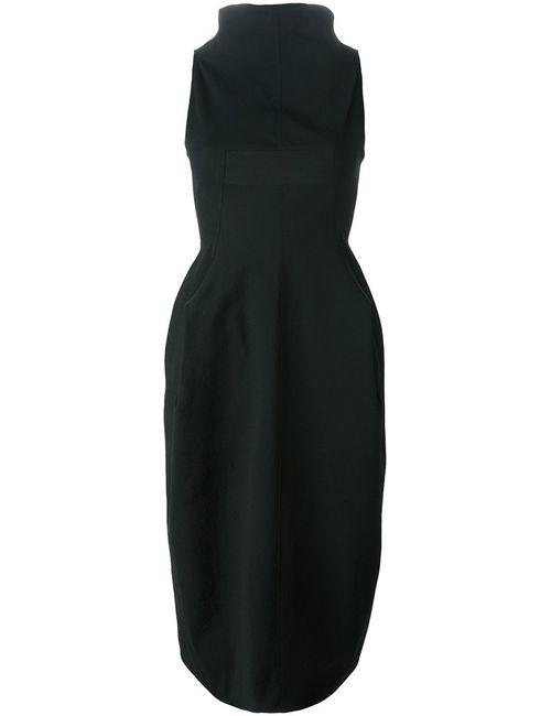 Rick Owens | Женское Cotton Blend Draped Collar Dress From Featuring