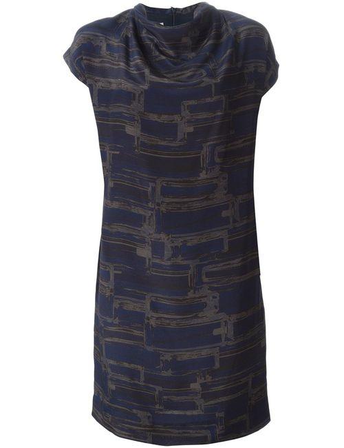Stephan Schneider | Женское Night Silk Draped Collar Printed Dress From