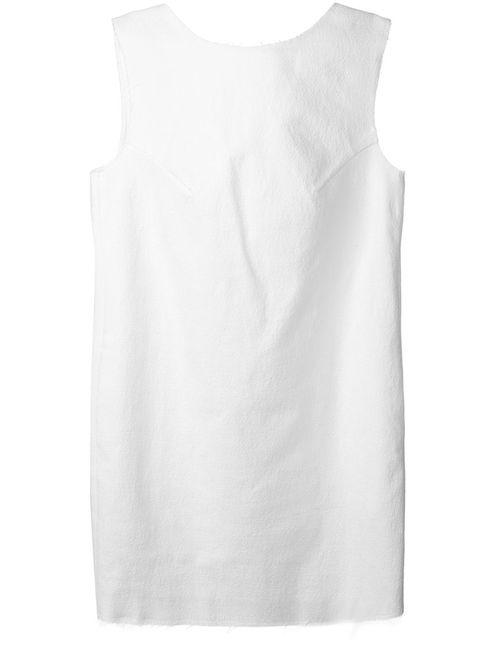 Dondup | Женское Белый Cotton Blend Back Embellished Dress From