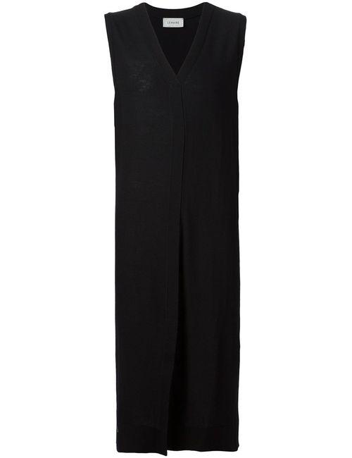 LEMAIRE | Женское Чёрный Virgin Wool V-Neck Knitted Dress From Christophe