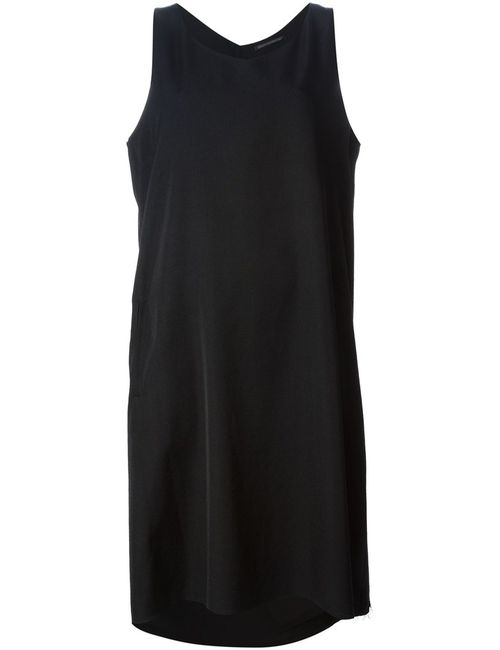 Yohji Yamamoto | Женское Чёрный Wool Draped Shift Dress From Featuring A