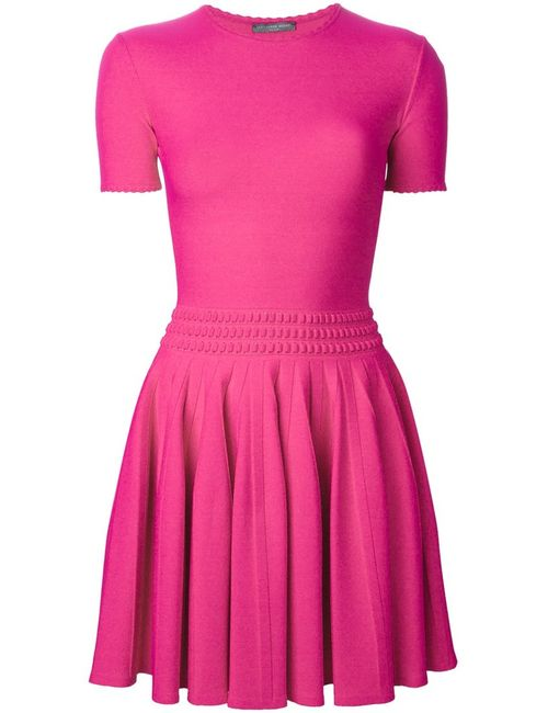 Alexander McQueen | Женское Fuchsia Pleated Mini Dress From Featuring A