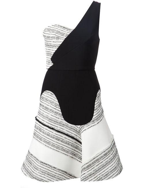 Roland Mouret | Женское Чёрное Платье На Одно Плечо Corby