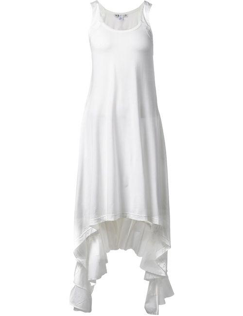 Y-3 | Женское Белый Ruffled Hem Dress From