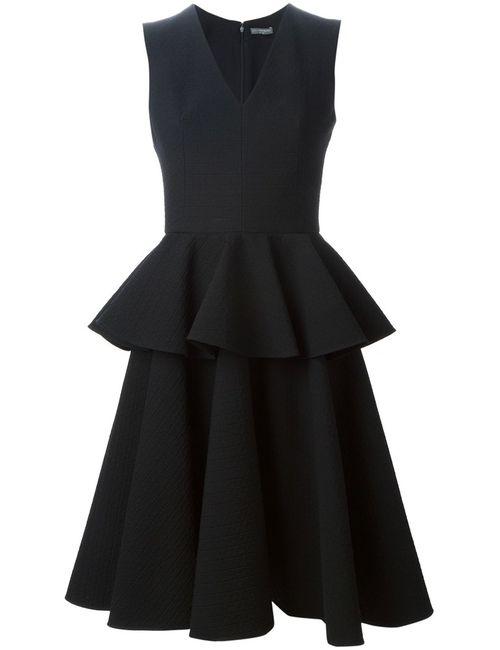 Alexander McQueen | Женское Wool Cotton And Silk Blend Peplum Dress