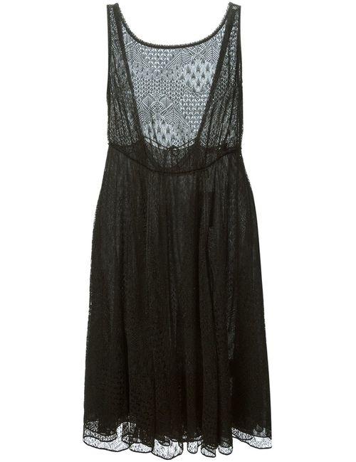 Missoni | Женское Чёрный Silk Blend Open Back Crochet Knit Dress