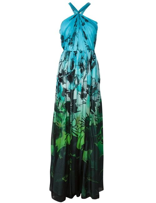 Matthew Williamson | Женское Синий Multicoloured Silk Print Evening Dress From