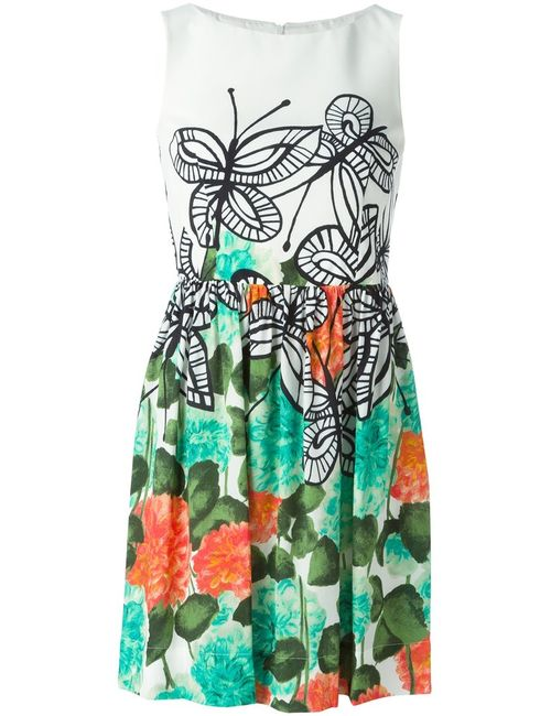 I'm Isola Marras | Женское Multicoloured Butterfly And Flower Print Dress From