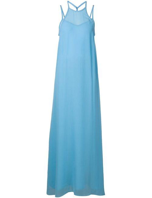 Schumacher   Женское Синий Silk Maxi Dress From