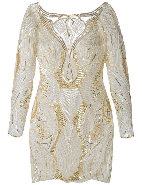 Zuhair Murad | Женское And Cream Silk Blend Sequinned Dress From