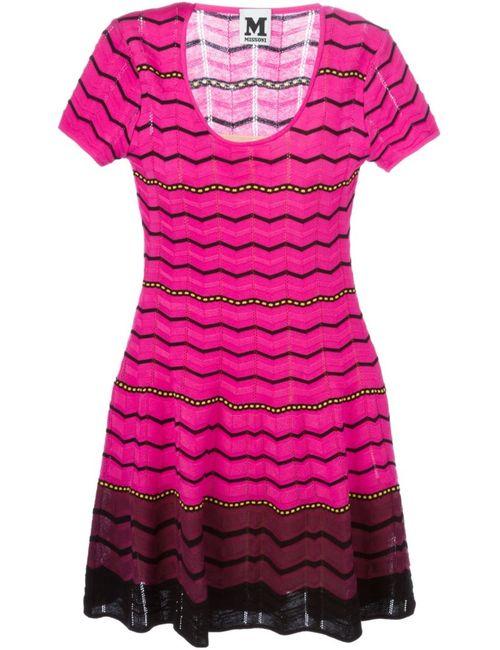 Missoni | Женское Cotton Blend Zig Zag Stripe Knitted Dress