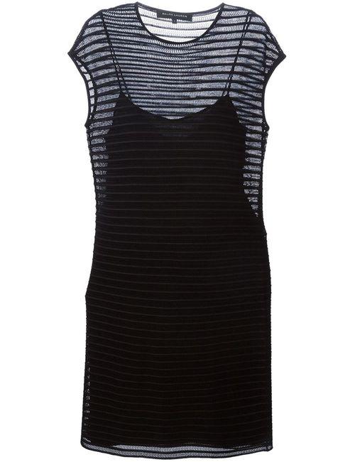 Ralph Lauren Black Label | Женское Чёрный Open Knit Fitted Dress From