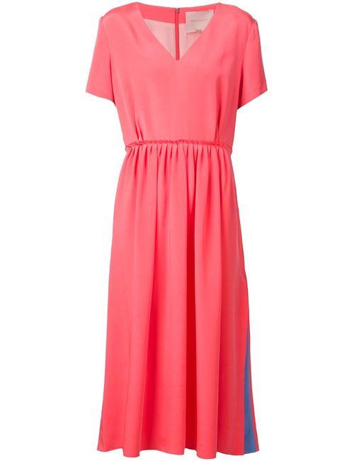 ROKSANDA | Женское Poppy And Sky Silk V-Neck Flared Dress