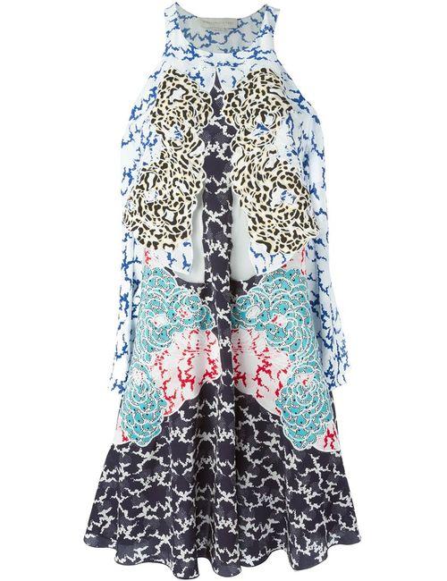 Stella Mccartney | Женское Multicoloured Silk Mix Print Dress From Featuring