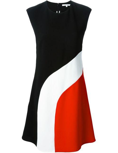 Carven | Женское Красное Платье Дизайна Колор-Блок