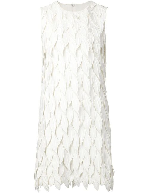 Giambattista Valli | Женское Silk Blend Textured Leaf Effect Dress From