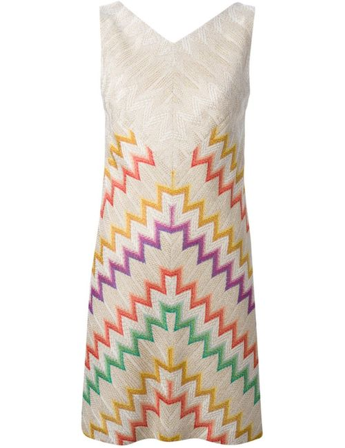 Missoni | Женское Nude & Neutrals Nude Silk Blend Zig Zag Print Dress