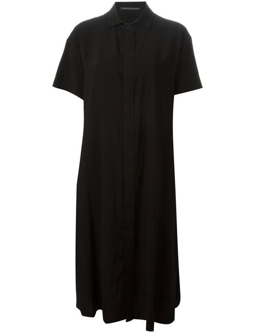 Yohji Yamamoto | Женское Черный Relaxed Fit Short Sleeve Dress
