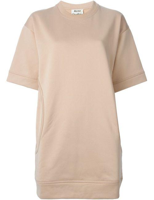 Acne Studios | Женское Розовое Платье-Толстовка Velika