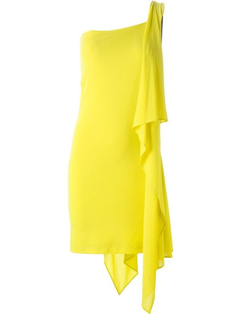 Plein Sud | Женское Желтый One-Shoulder Draped Detail Dress From