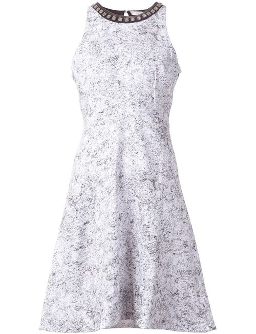 Schumacher | Женское Белый Multicoloured Cotton Embellished Collar Dress From