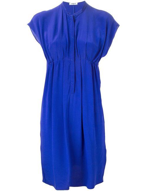 Cacharel   Женское Cobalt Silk Simple Empire Line Dress From
