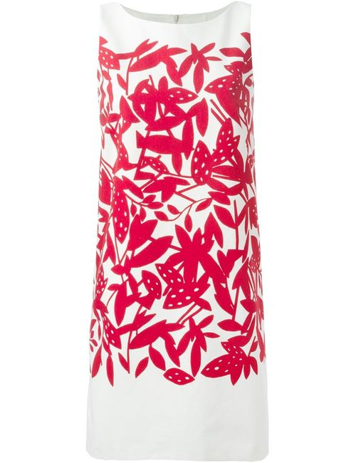 Paule Ka | Женское And Cerise Cotton Print Dress From