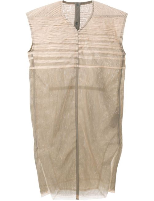 Rick Owens | Женское Nude & Neutrals Nude V-Neck Mesh Dress From Featuring Cap