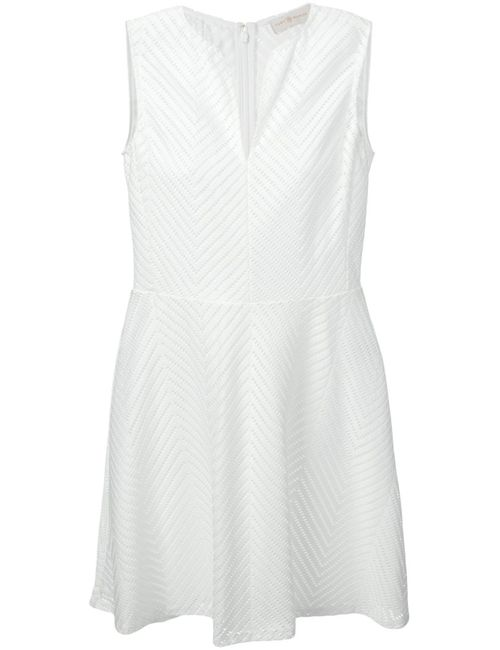 Tory Burch | Женское Белый Slip Neck Flared Dress From