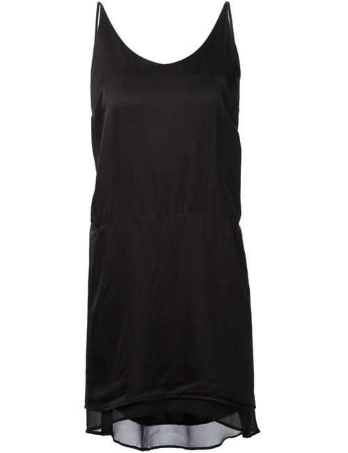 Clu | Женское Чёрный Silk Asymmetric Slip Dress From