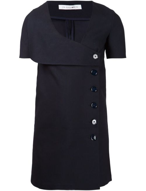 J.W. Anderson | Женское Синий Navy Cotton Button Detail Sailor Dress From