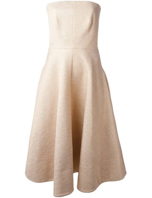 Rochas | Женское Textured Strapless Flared Dress From