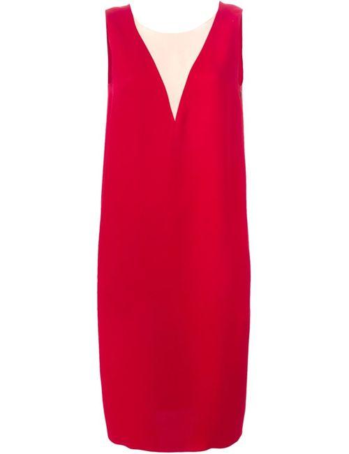 Lanvin | Женское Silk Sleeveless Dress From Featuring A Sheer